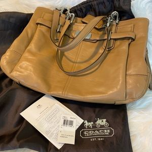 Beautiful soft leather Coach handbag